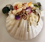 Mini Seashell Kaleidoscope with aquarium bead, dolphin by Cathy Painter