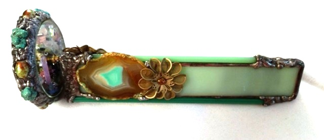 Turquoise Agate Kaleidoscope by Cathy Painter