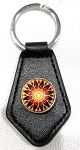 Mandala key fob, design B by Laura Wilde