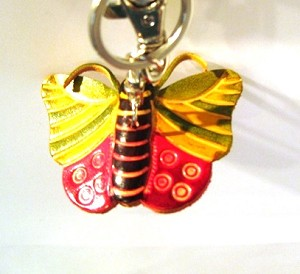 Leather Butterfly A Key Ring