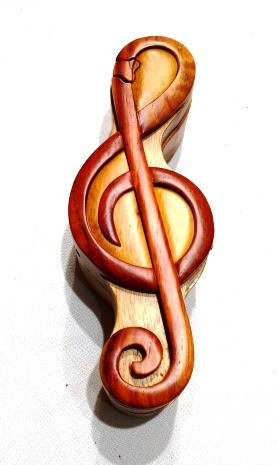 Treble Clef Puzzle Box