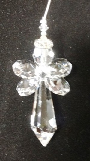Large Clear Crystal Angel