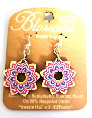 GreenTree earrings - Mandala flower