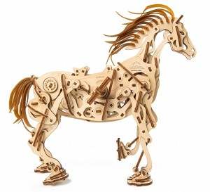 Wooden Mechanical Horse Kit by Ugears