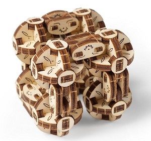 Wooden Mechanical Flexi-Cubus Kit by Ugears