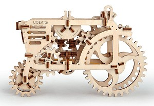 Wooden Mechanical Tractor Kit by Ugears