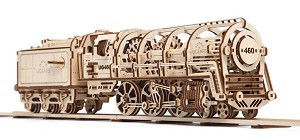 Wooden Mechanical Train Kit by Ugears