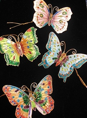 Enameled Butterfly Ornament
