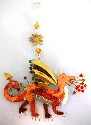 Fire Dragon Ornament