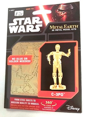 Metal Earth - Star Wars C3PO Gold model
