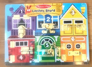 Wooden Latches Activity Board