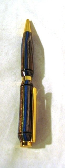 Blue Brown ColorplyTurned Pen by Jim Duxbury