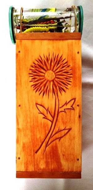 Carved Flower Wooden Kaleidoscope by Richard Foster