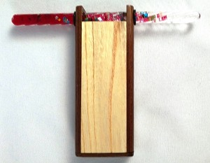 Small Wood Glitter Tube Kaleidoscope F by Dan Land