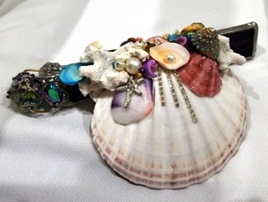 Seashell Kaleidoscope with starfish bead by Cathy Painter