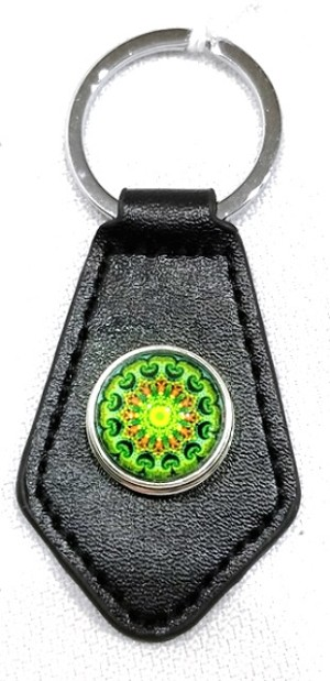 Mandala key fob, design A by Laura Wilde